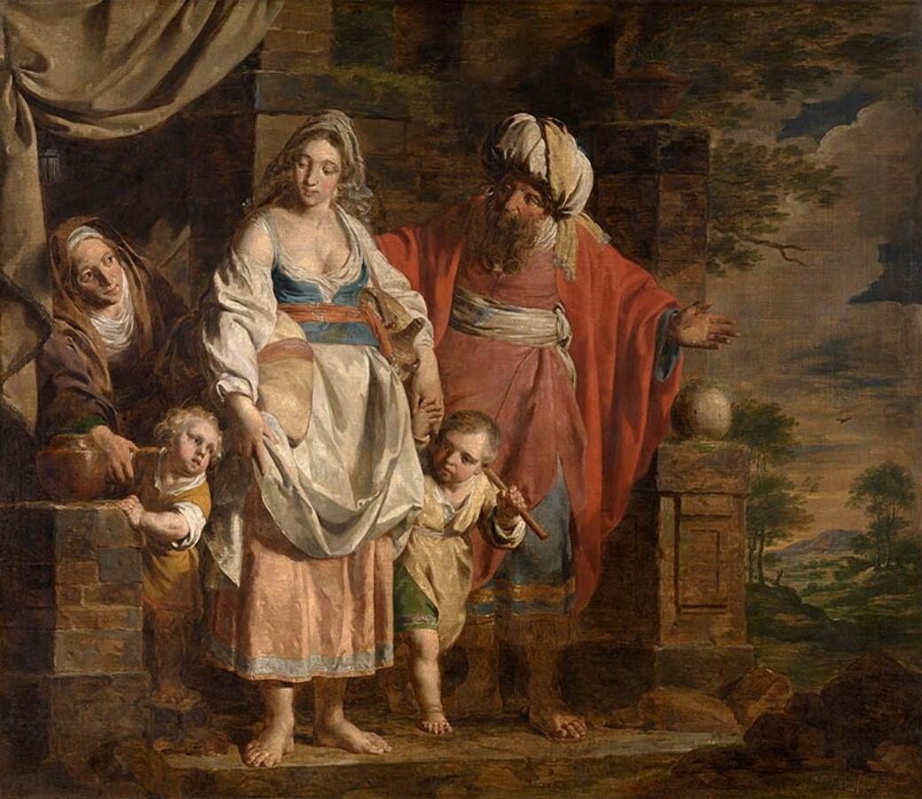 File:Verhaghen, Pieter Jozef - Hagar and Ishmael Banished by Abraham -  1781.jpg