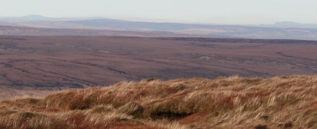 Yorkshire Three Peaks from Bleaklow, Peak District - geograph.org.uk - 329526