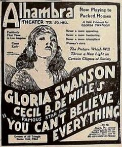 <i>You Cant Believe Everything</i> 1918 film