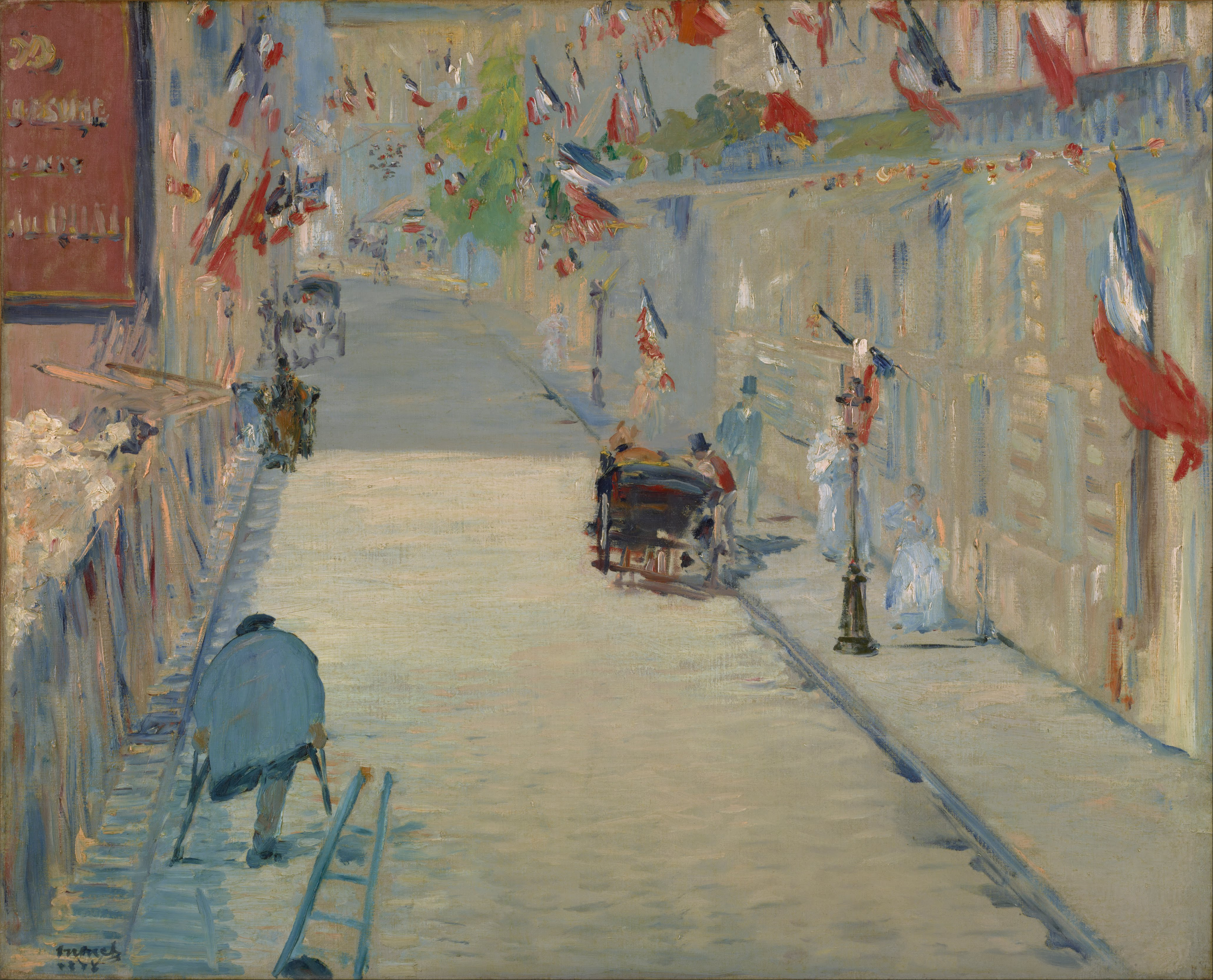 File 201 Douard Manet The Rue Mosnier With Flags Google border=