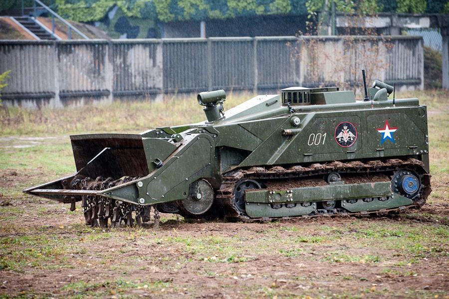 Уран-6 на полигоне инженерных войск