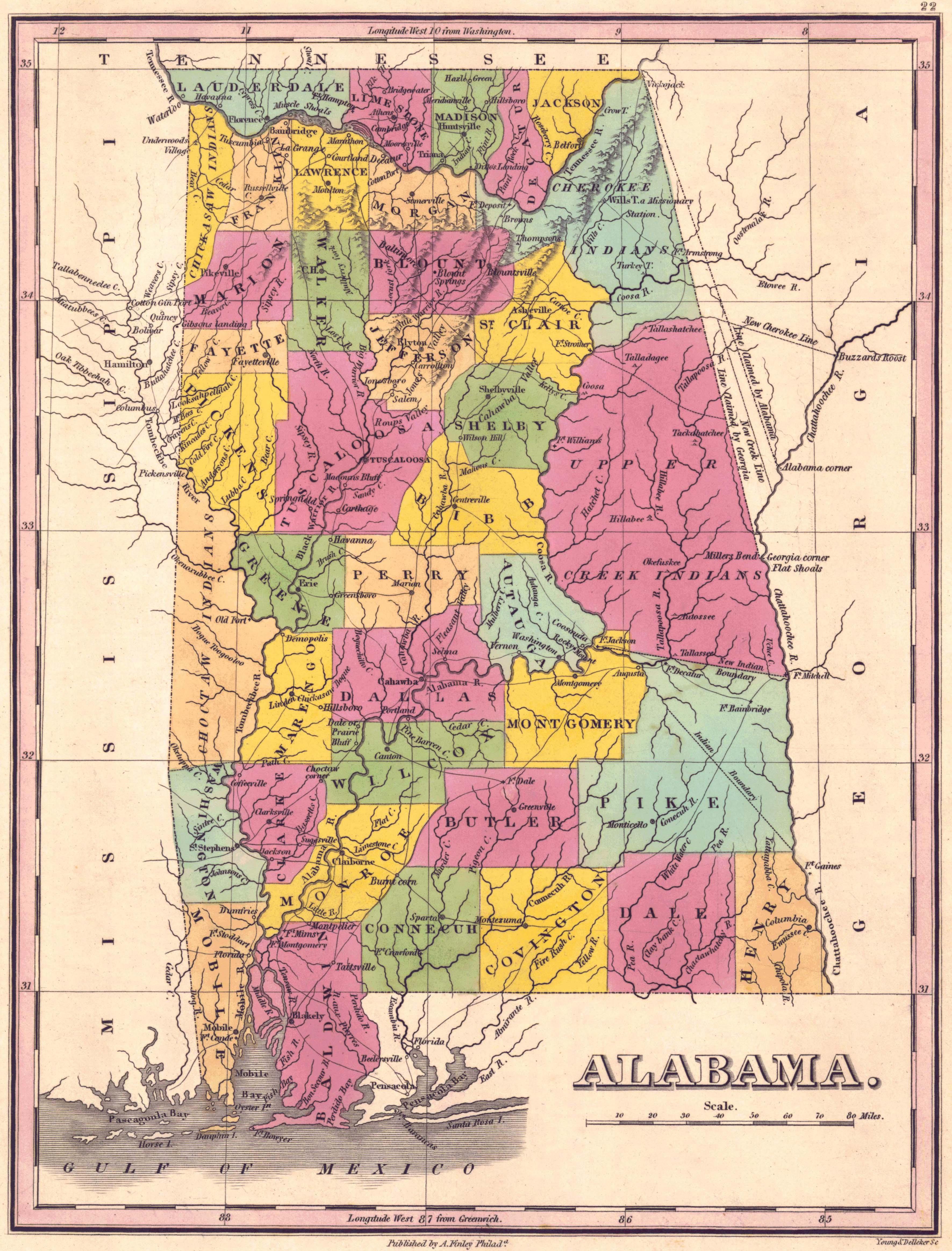 Map Alabama