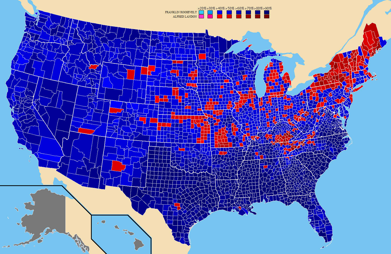 US Election Results By County In MAPS Pinterest - Map of population density us election