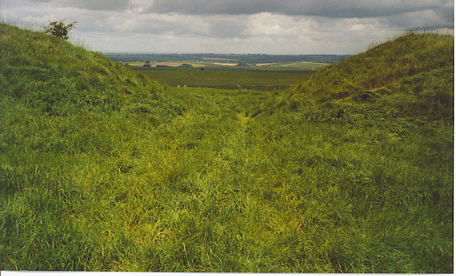 A Gap in the Wansdyke, North of Milk Hill. - geograph.org.uk - 185565