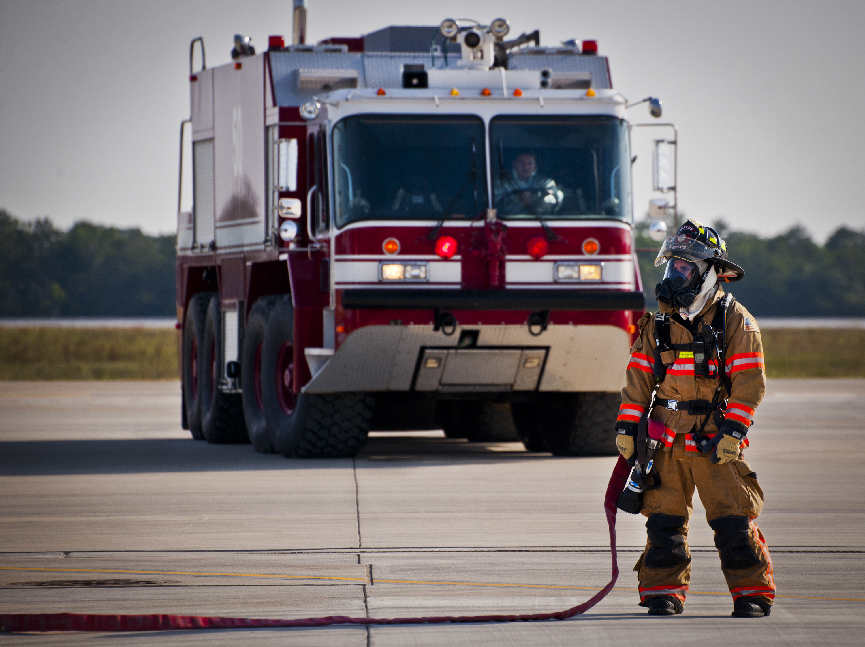 FileA firefighter with the US Air Forces 96th Test Wing – Firefighter Job Description