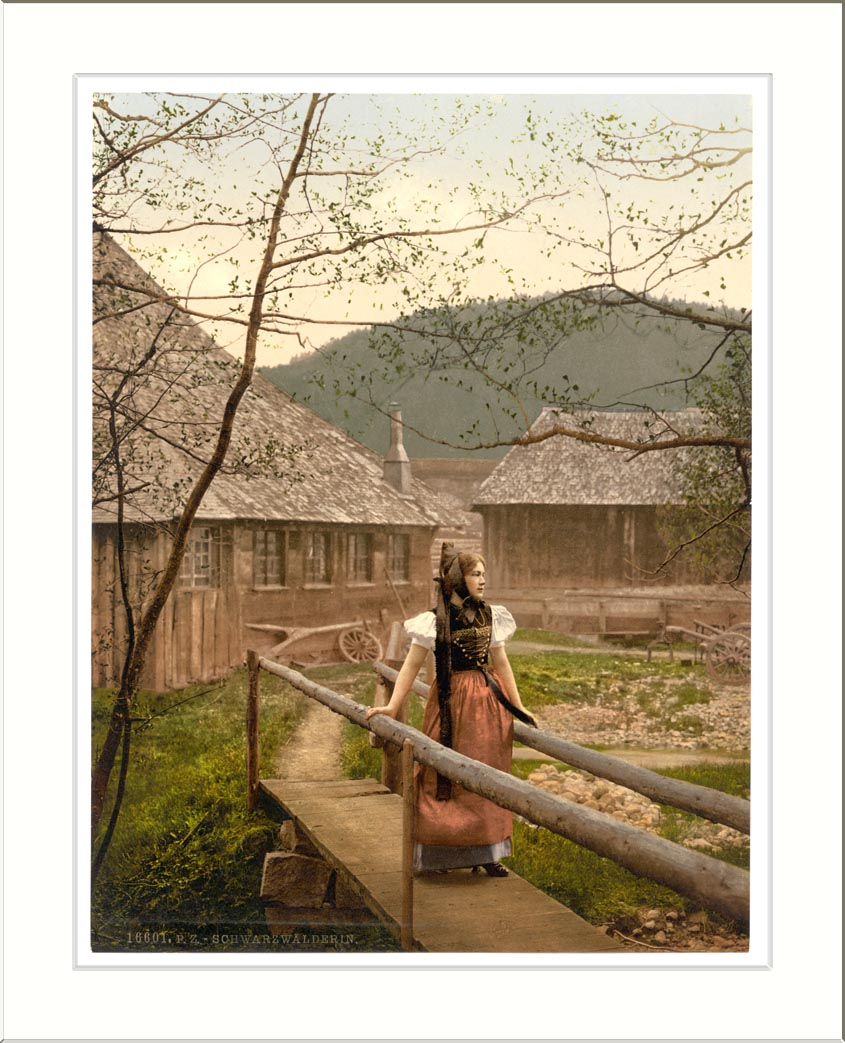 Description a girl of the black forest black forest baden germany