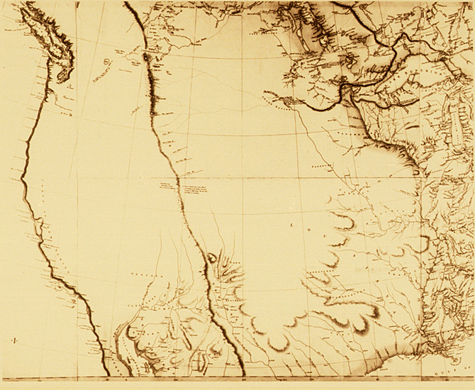 "Arrowsmith's ""Map Exhibiting All the New Discoveries in the Interior Parts of North America'', dated 1 January 1795"