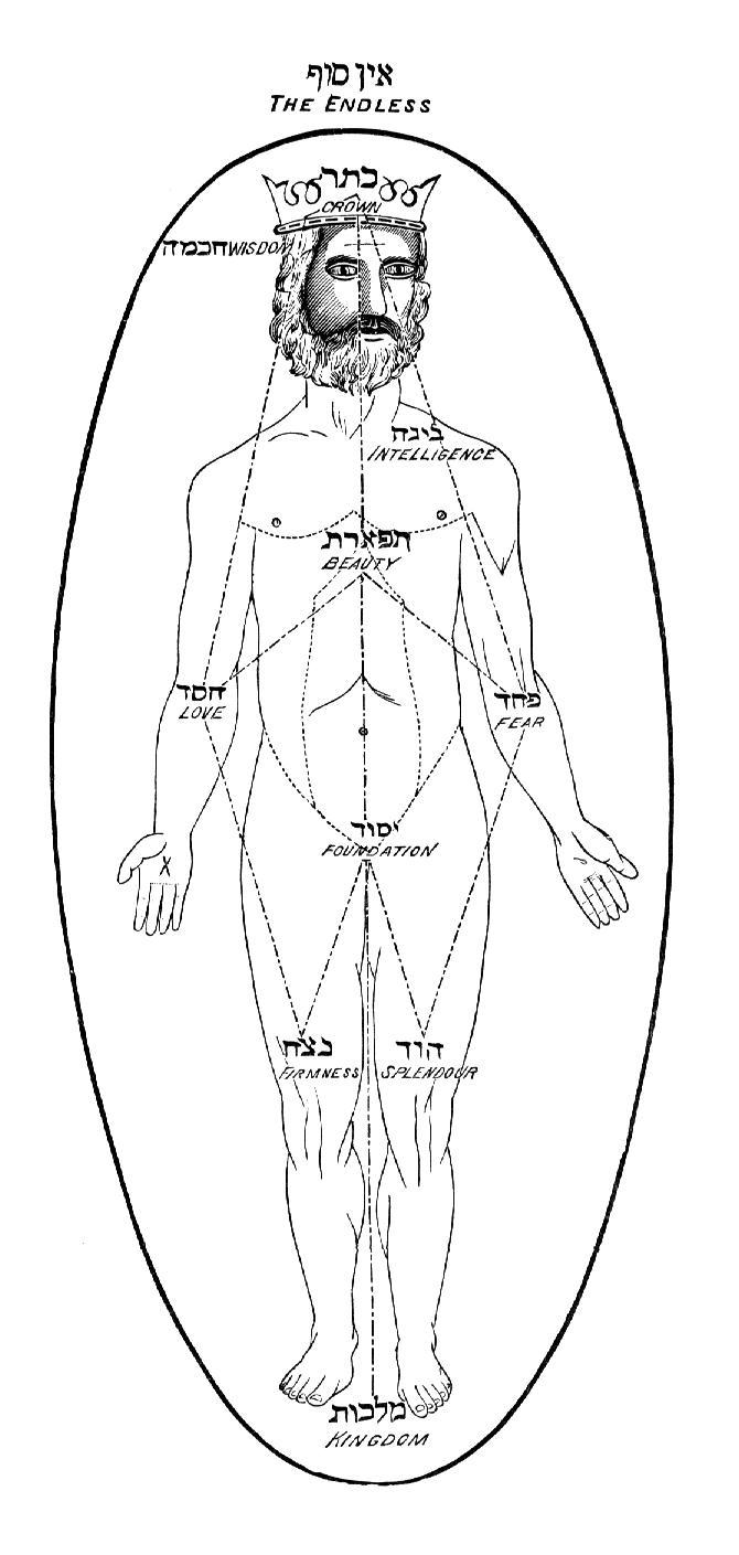 Adam Kadmon, o homem primordial, perfeito e integrado em Deus