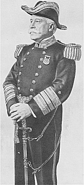 Dewey in special full dress uniform as Admiral of the Navy.