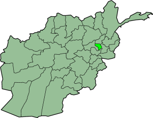 Localisation du district d'Alasay en Afghanistan
