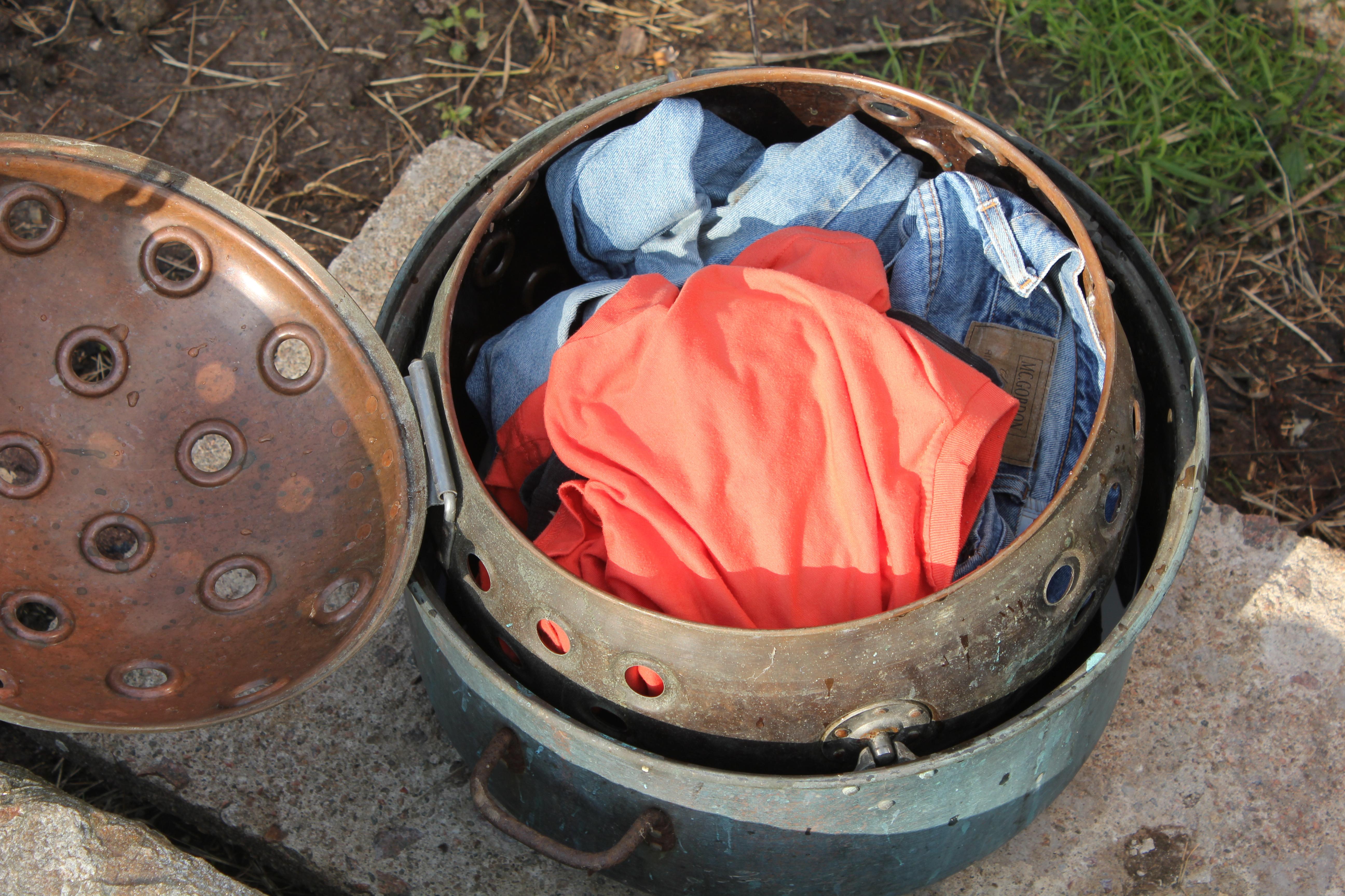 Fylt med skittentøy