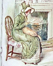 Anne Elliot as drawn by C.E. Brock (1909)