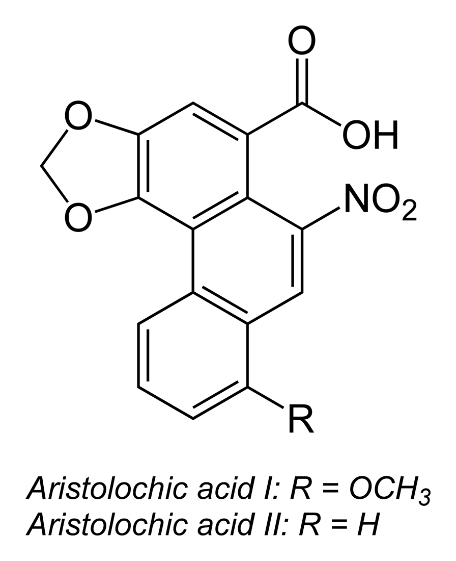 Reduction of aristolochic acid I produces