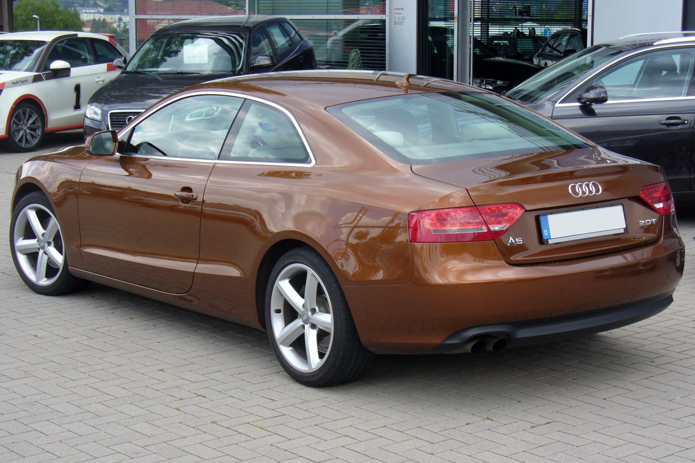 File Audi A5 Coupé 2 0 Tfsi Ipanemabraun Heck Jpg