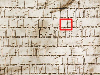 Erste urkundliche Erwähnung Münchens (munichen) im Augsburger Schied