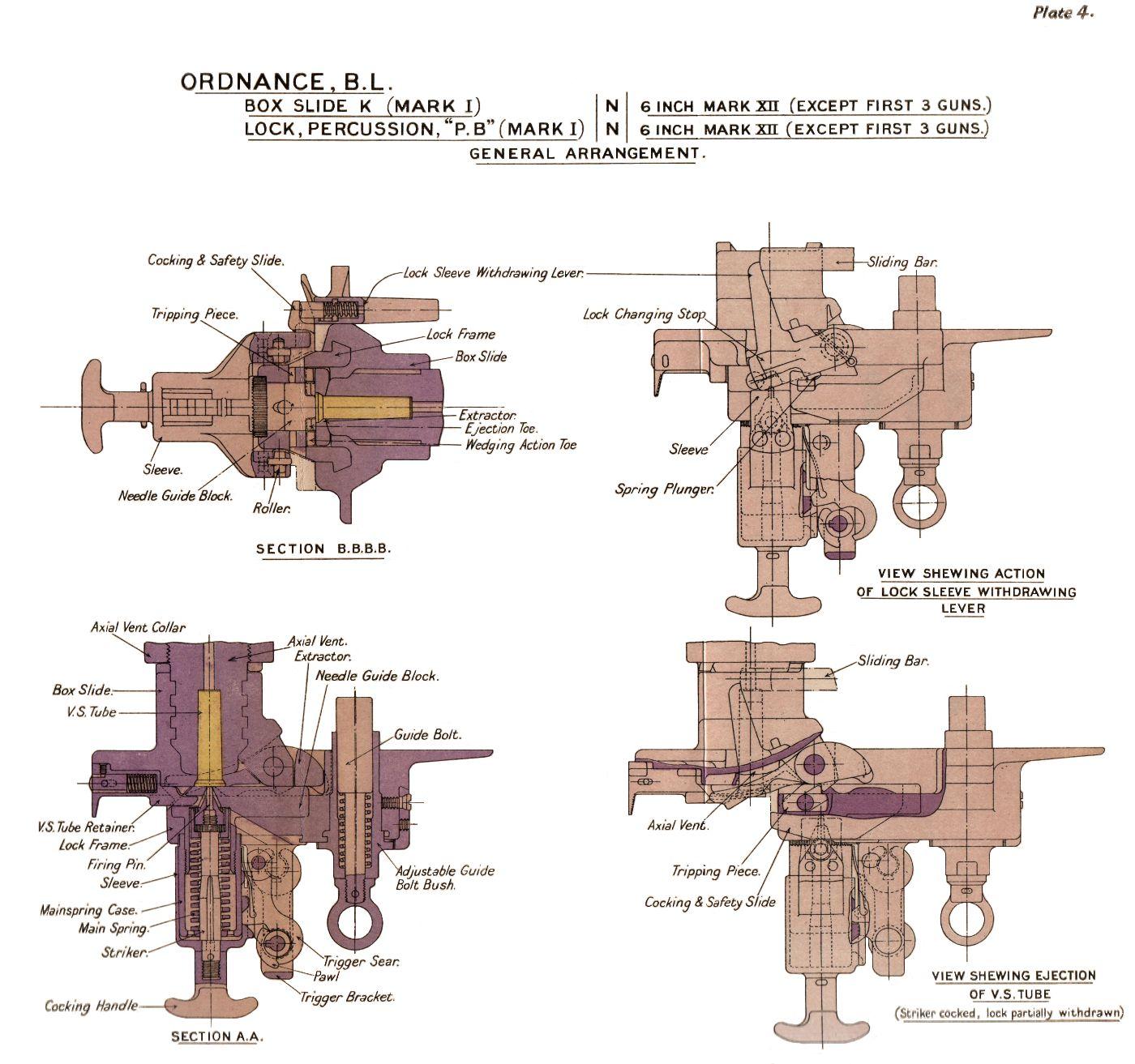 File Bl 6 Inch Mk Xii Gun Percussion Lock Diagrams Jpg