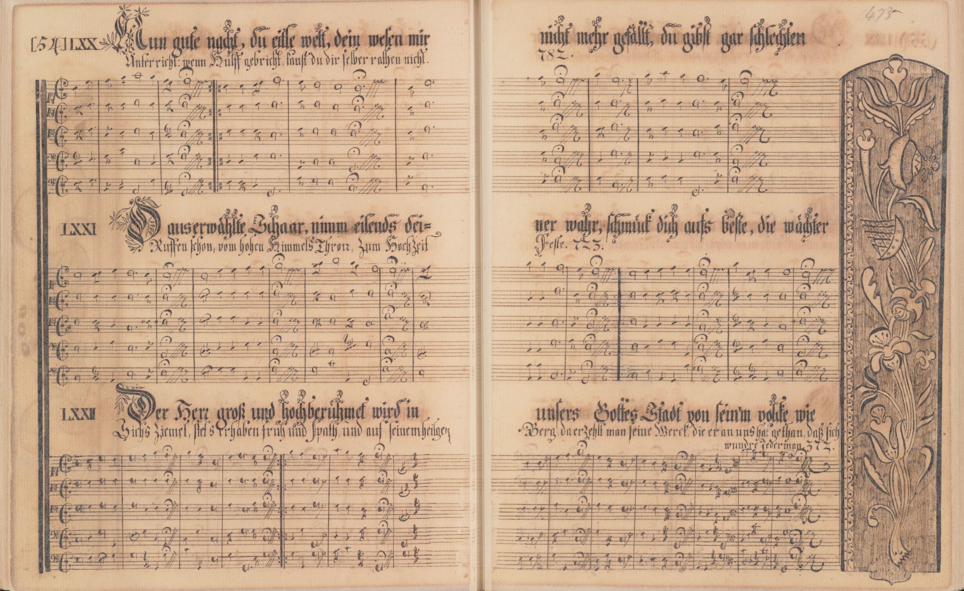 Ephrata Community Manuscript hymnal, 1746