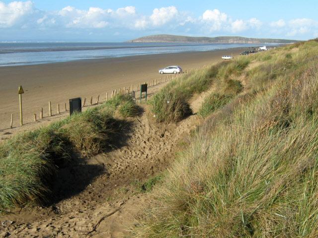 Berrow Beach and dunes (geograph 2675528)