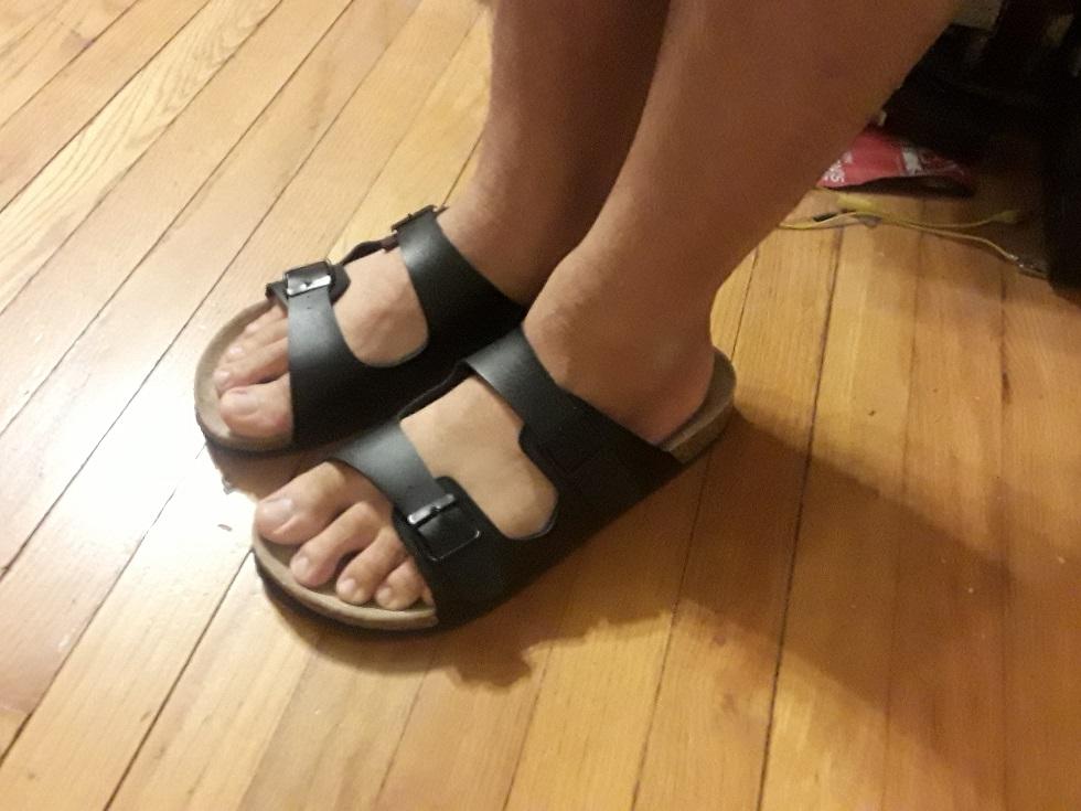 File:Birkenstocks on feet.jpg