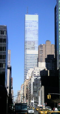 View of the Bloomberg tower in New York City