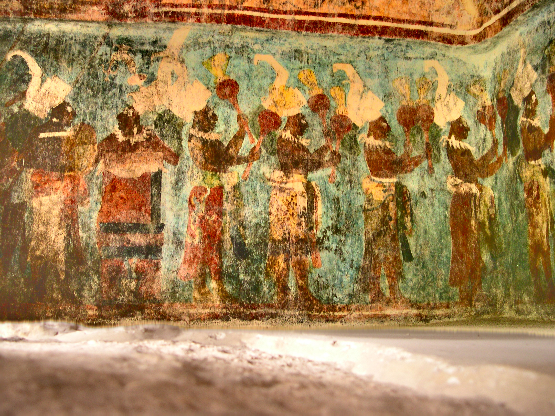 File bonampak wikimedia commons for Bonampak mural painting