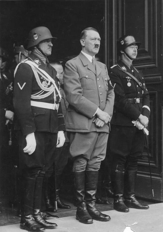 Dietrich with Hitler and Himmler