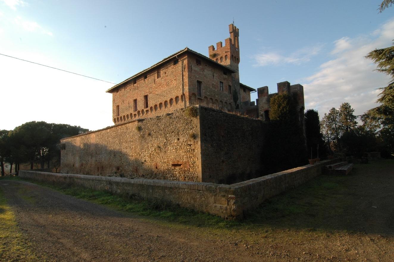 Castello di Bibbiano, situated in Bibbiano, hamlet of Buonconvento, Province of Siena