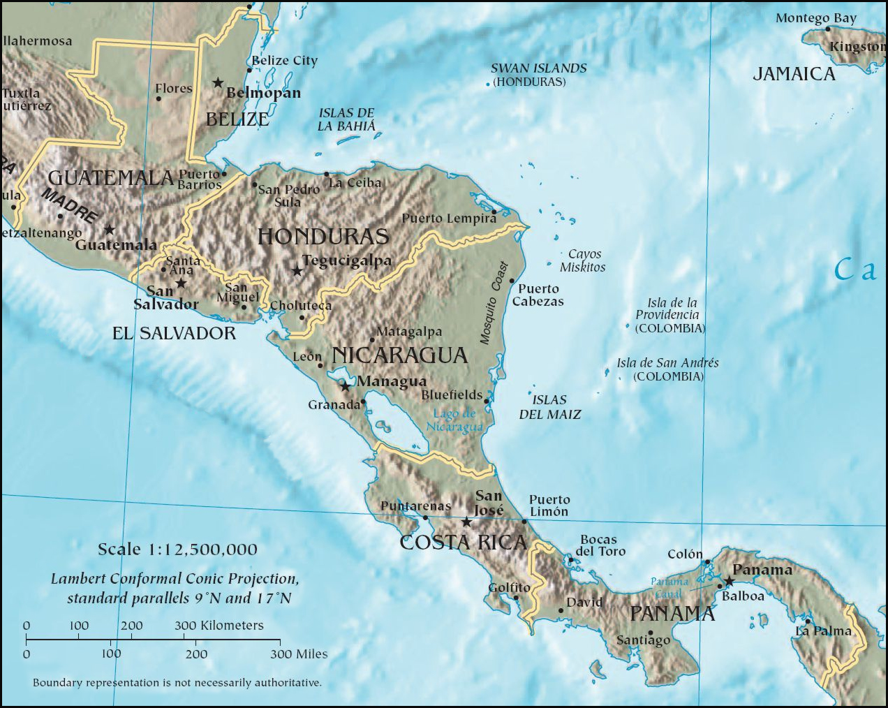 FileCIA map of Central Americapng Wikimedia Commons