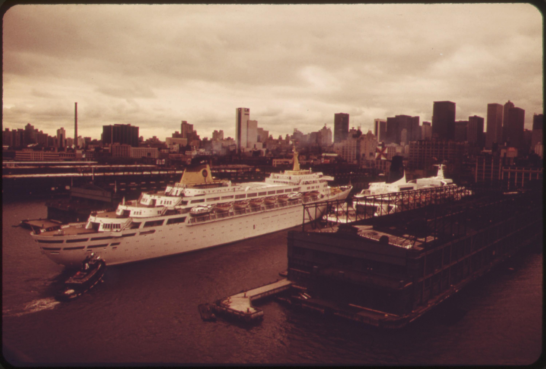 FileCRUISE SHIPS IN DOCK AT NEW YORK HARBOR  NARA