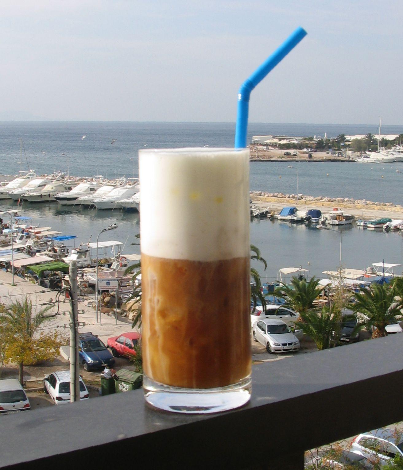 Cafe Frappé (cafe frio griego)
