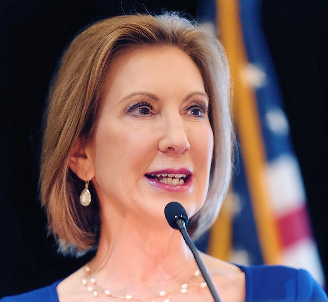 Carly Fiorina speaking-retouched.jpg English: Carly Fiorina (née Cara Carleton Sneed; September 6, 1954) is a politician, former business executive