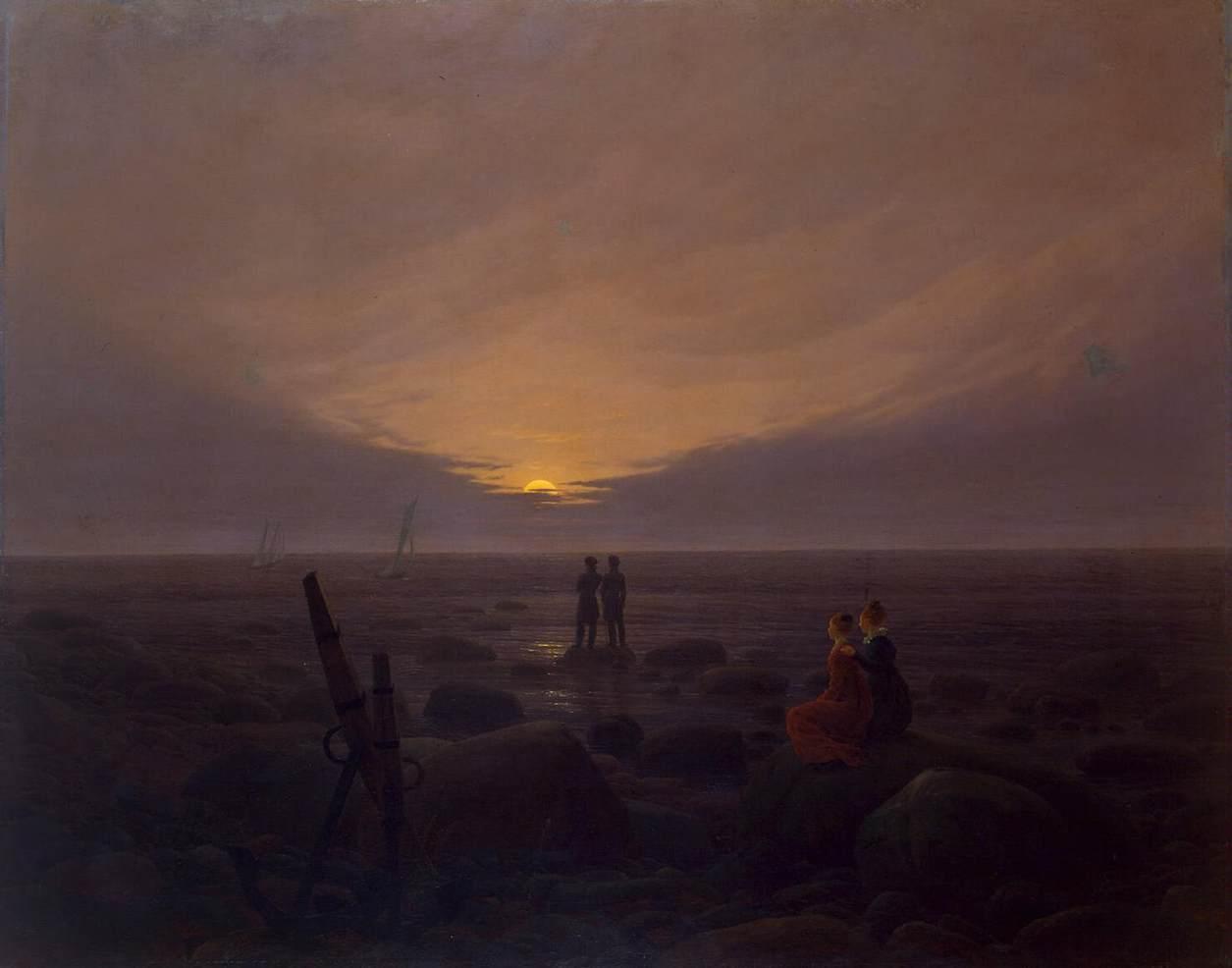Moon Rise Chart: Caspar David Friedrich - Moonrise by the Sea - WGA08262.jpg ,Chart