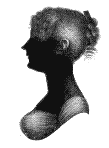 Silhouette of Cassandra Austen, Jane's sister and closest friend CassandraAustenSilhouette.png