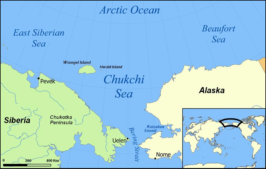 Kết quả hình ảnh cho chukchi peninsula map