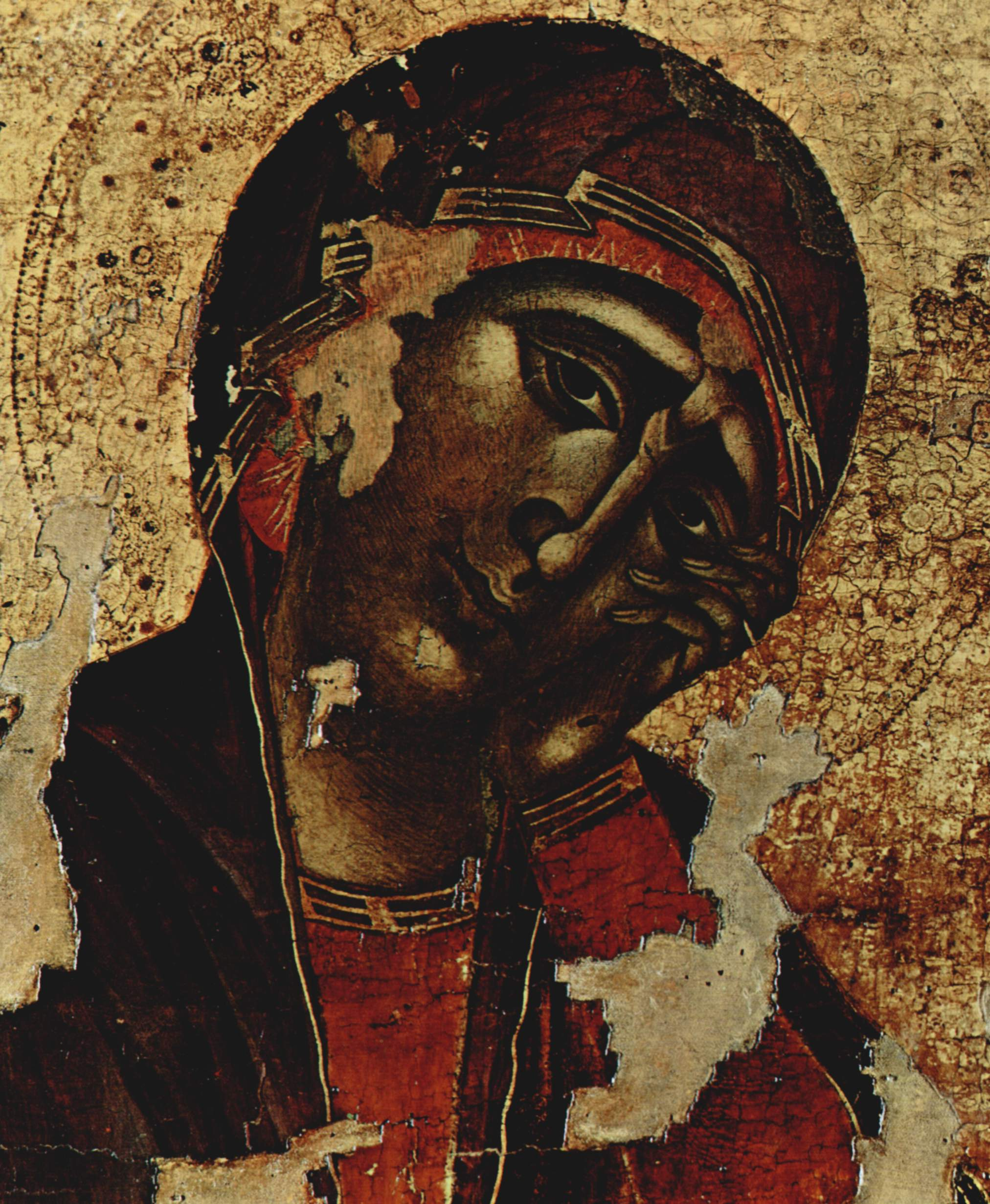 CIMABUE Crucifix (detail, Mary) 1287-1288