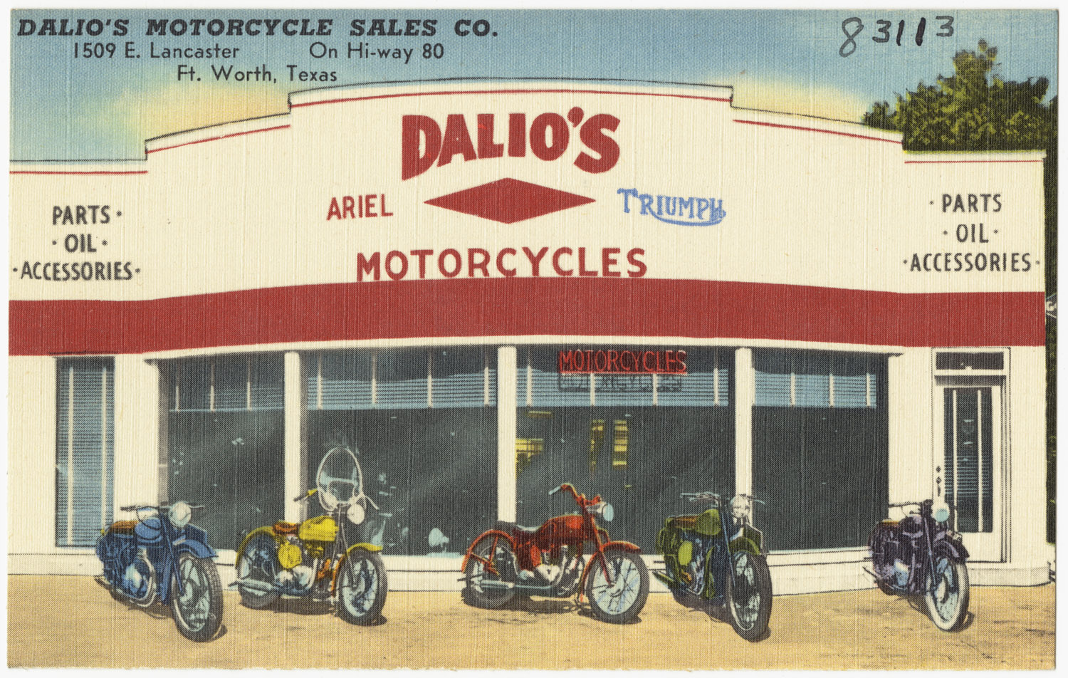 File:Dalios Motorcycle Sales Co., 1509 E. Lancaster, on Hi-