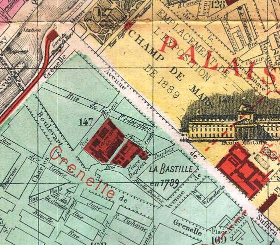 FileDetail Of Vuillemin Map Of Paris Bastille Jpg - Map of paris bastille