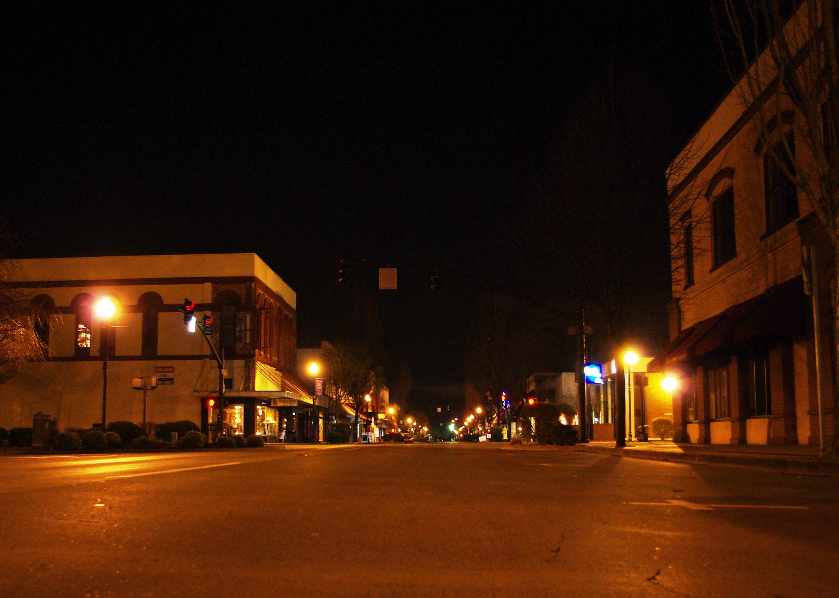 File Downtown Main Street Night Hillsboro Oregon Jpg