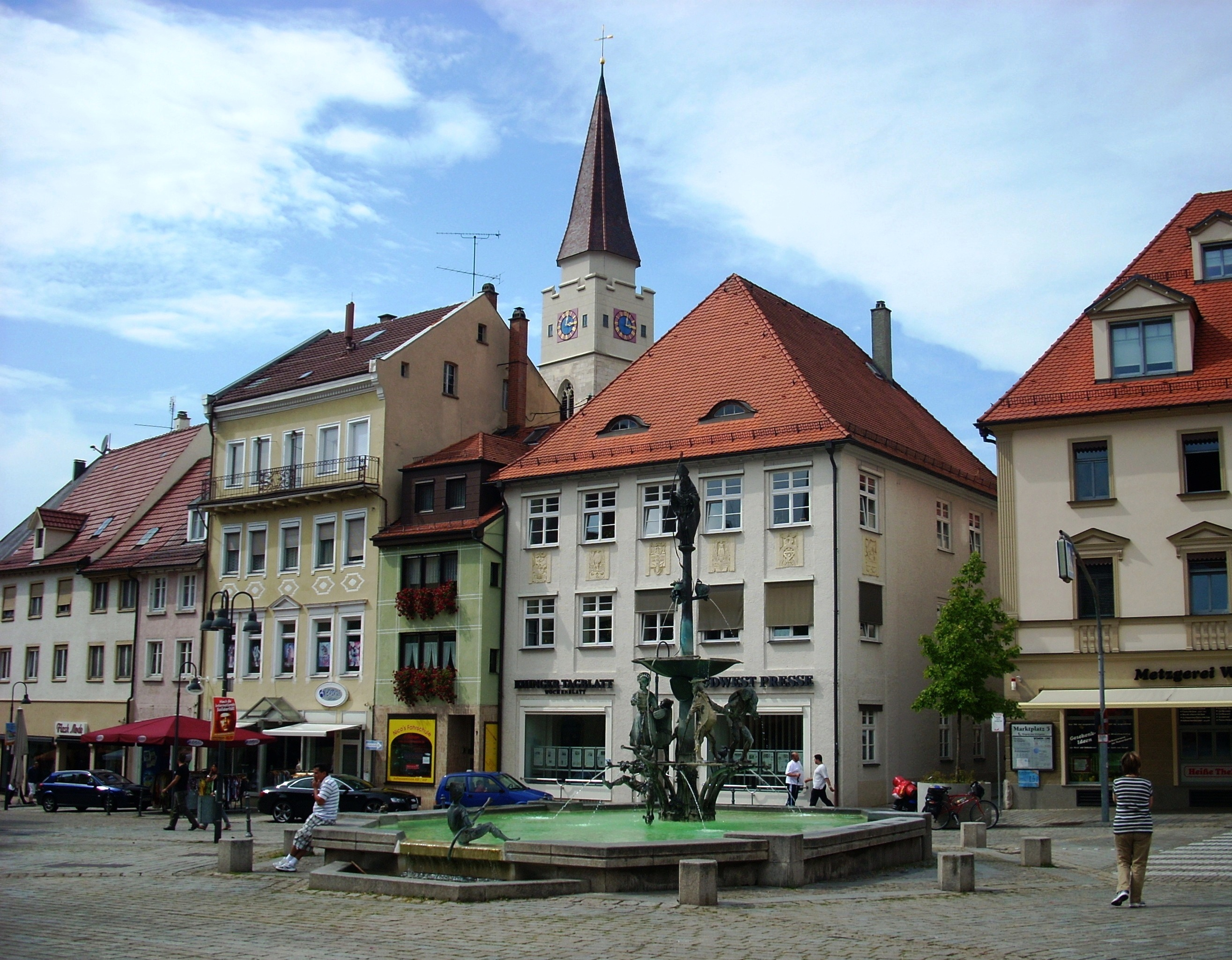 Ehingen Germany  city pictures gallery : Ehingen,St.Blasius,Theodulbrunnen Wikimedia Commons