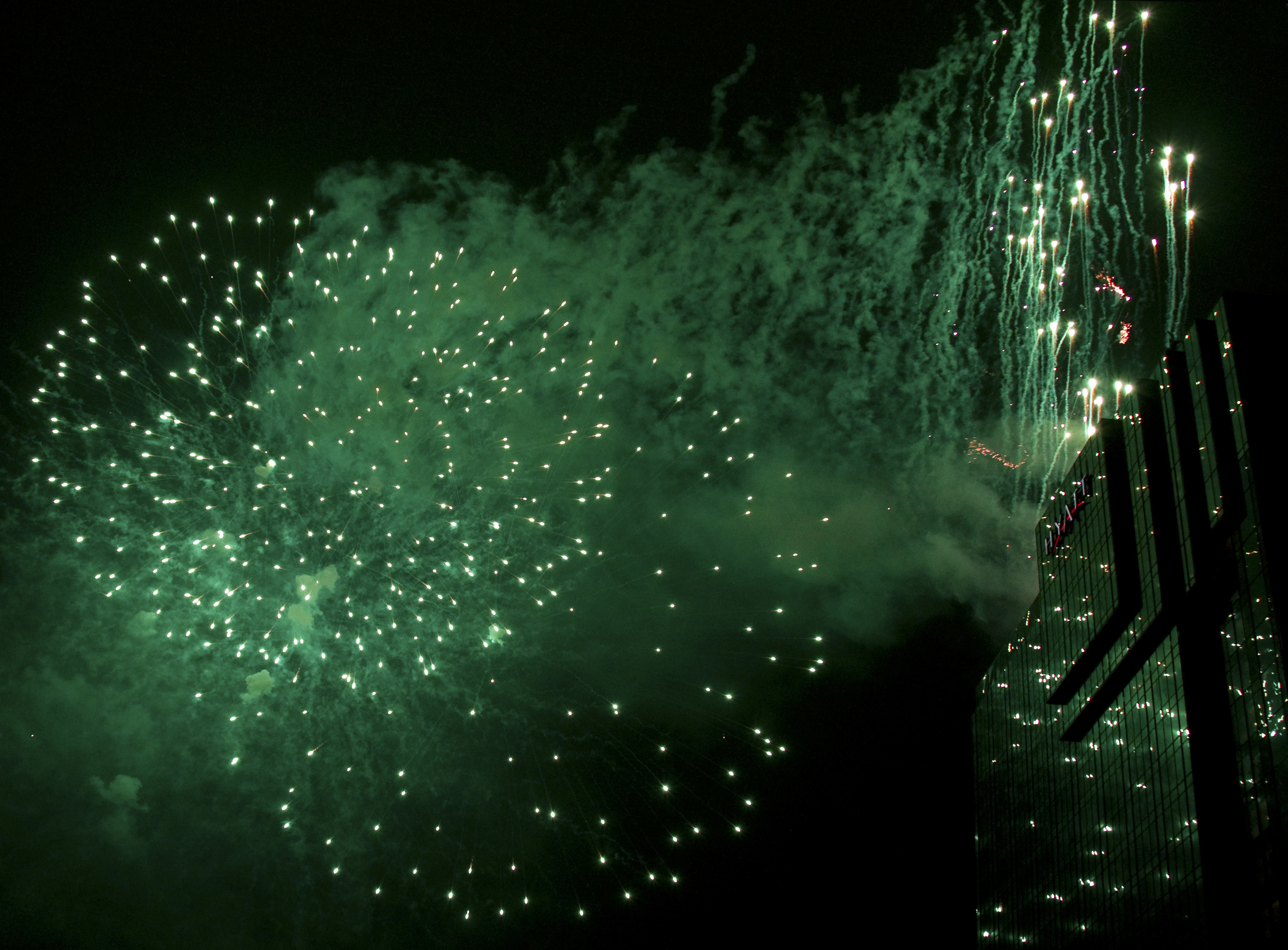 The Gallery For --> Green Fireworks Background