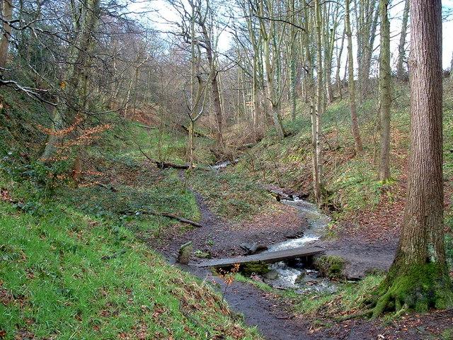 Footbridge across Lumb Dyke - geograph.org.uk - 145105