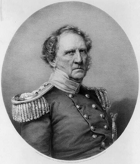 General Winfield Scott of the US Army