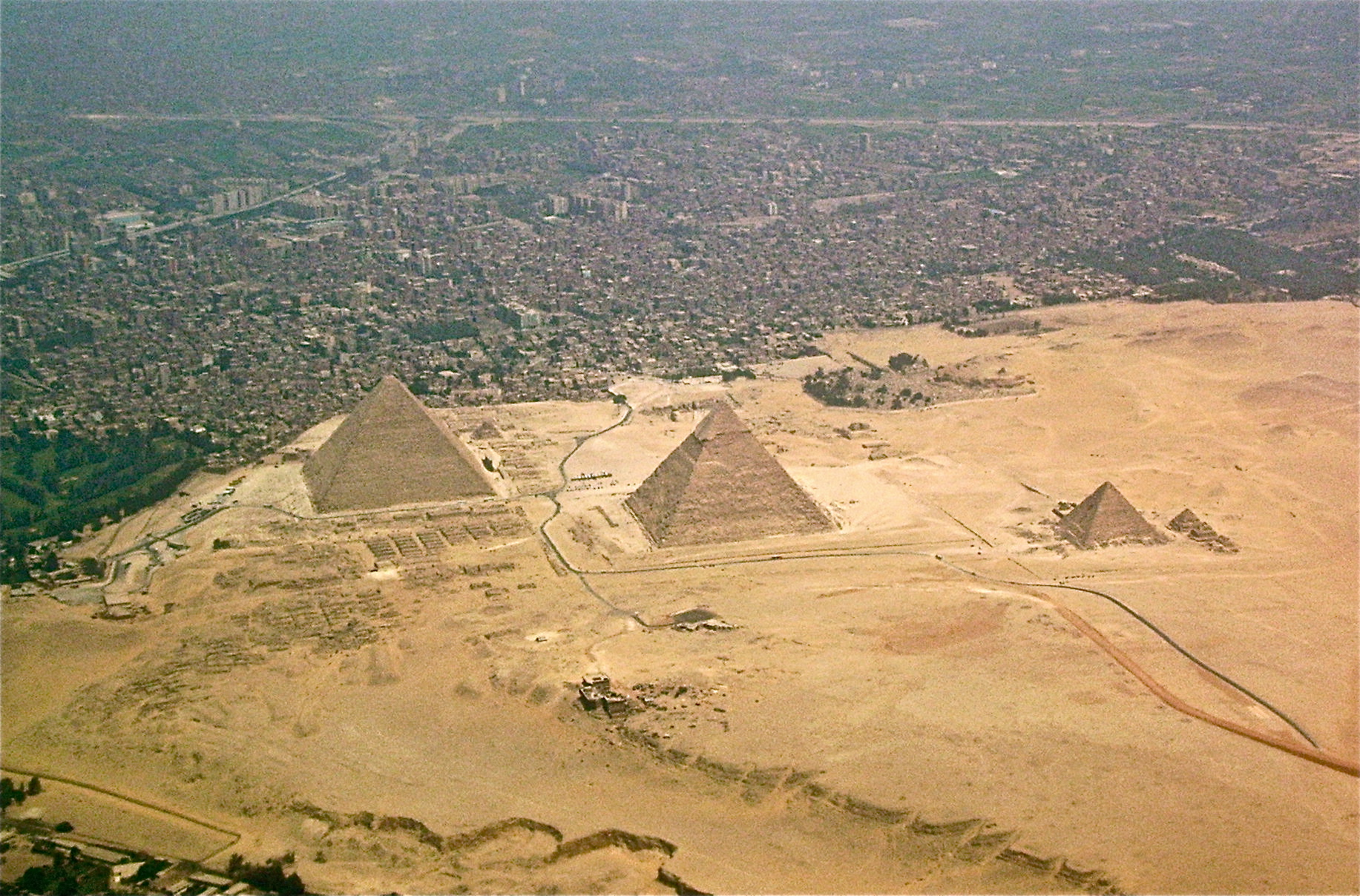Giza Egypt  City pictures : had no idea the pyramids were this close to the City : pics