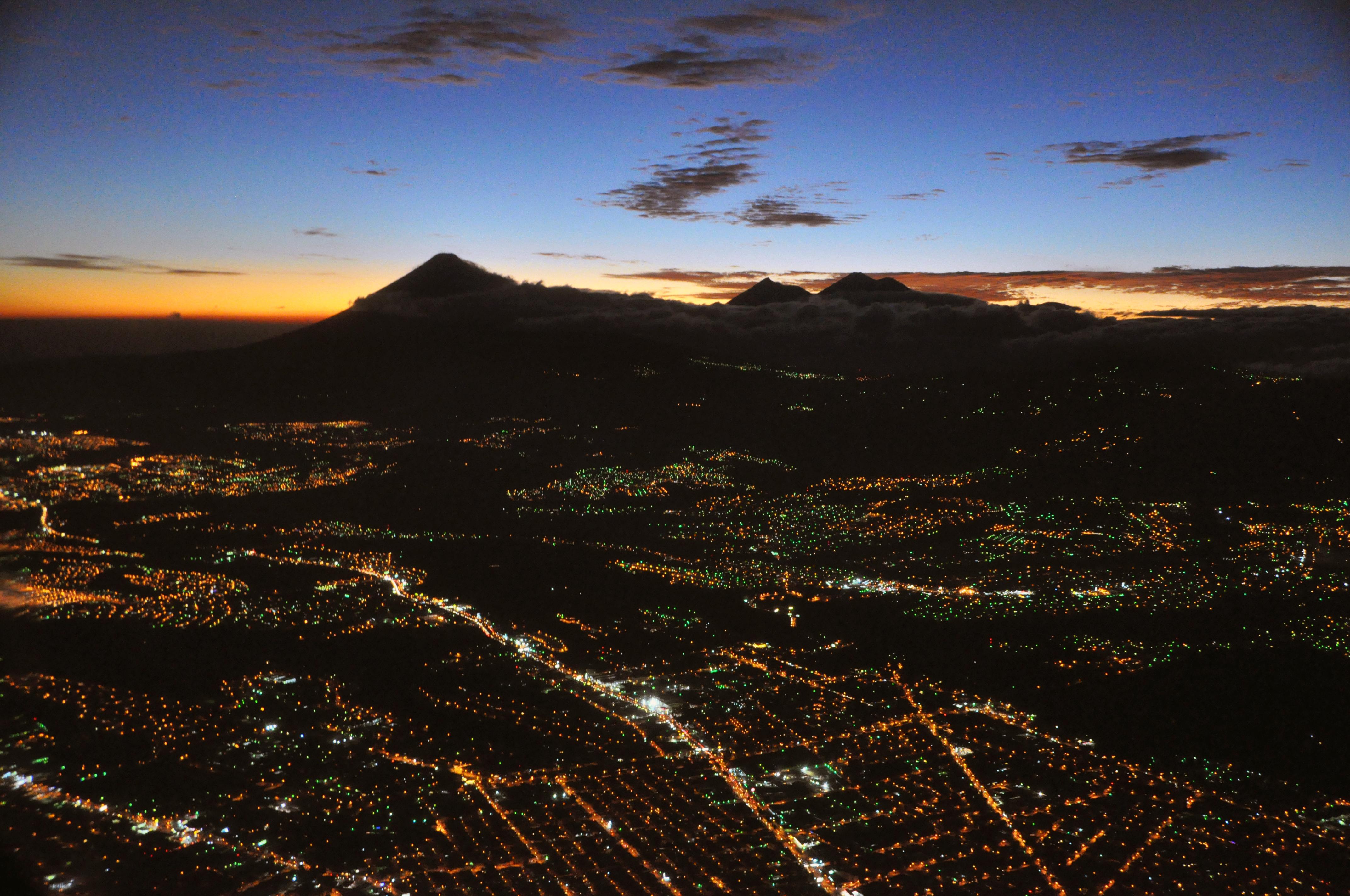 Guatemala City Guatemala  city photos gallery : Description Guatemala city aerial night b