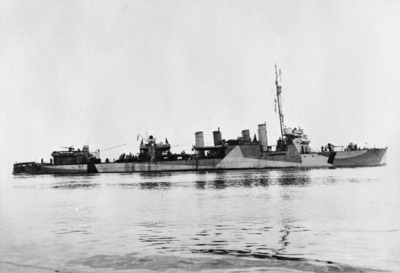 HMS Burwell H94 (1940) ex USS Laub DD-263