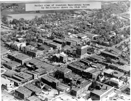 Harrisburg square 1950. At the beginning of the 20th century, Harrisburg prospered with one of the largest downtown districts in downstate Illinois.