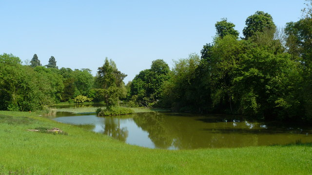 Hop Garden Pond, Gatton Park - geograph.org.uk - 1319827
