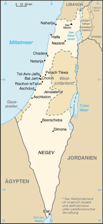 Israel Karte.Städt In Israel Boarische Wikipedia