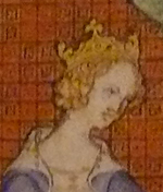 Joan II of Navarre - her paternity and succession rights were disputed her whole life because her mother Margaret of Burgundy was claimed to have committed adultery. Jana2Navarra hlava.jpg