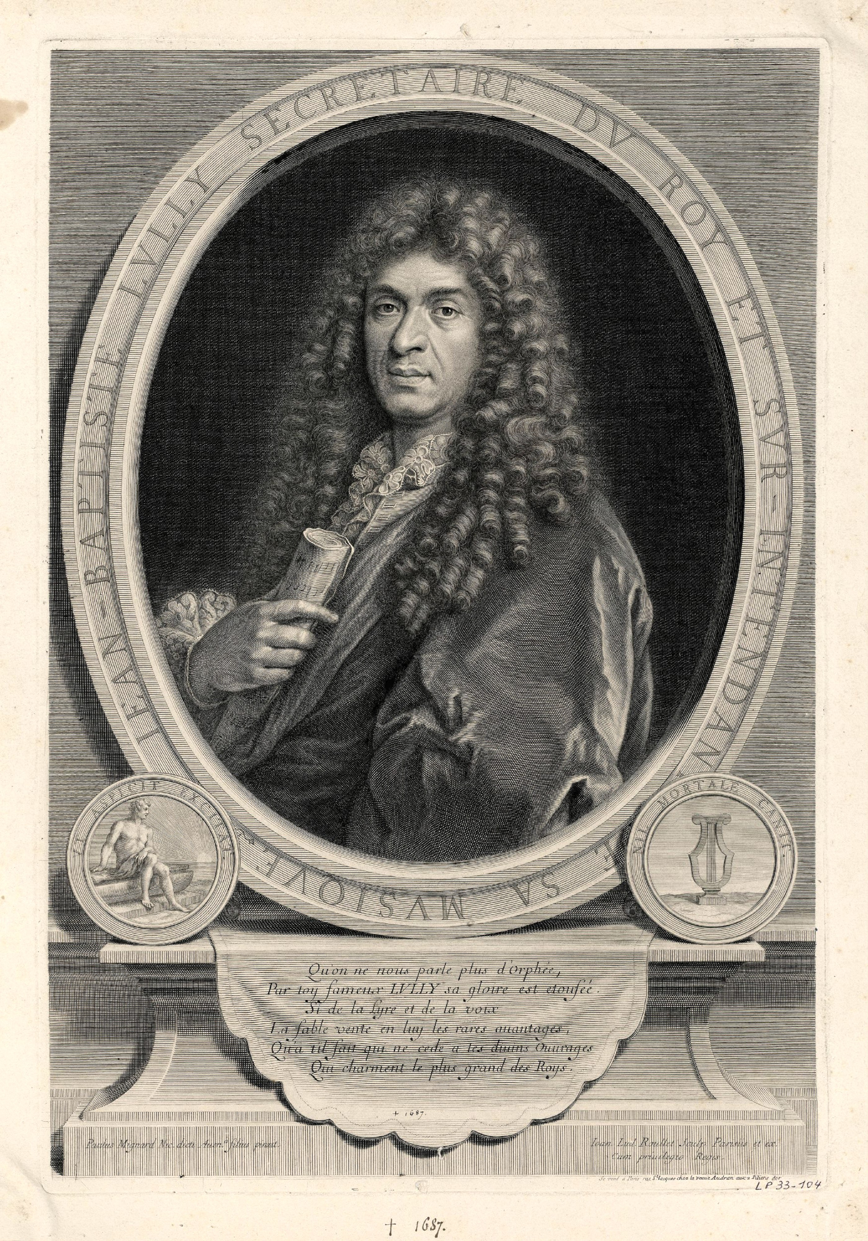 jean baptiste lully Bio jean-baptiste lully was born in italy, the son of a miller when he was a young boy, his mother died, and he was taken to france to work as a servant in the home of a rich aristocrat.